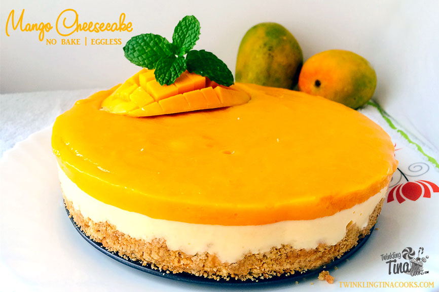 Stupendous No Bake Mango Cheesecake Personalised Birthday Cards Veneteletsinfo